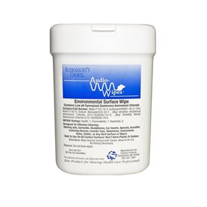 AudioWipes Towelettes - mini canister (36 wipes)