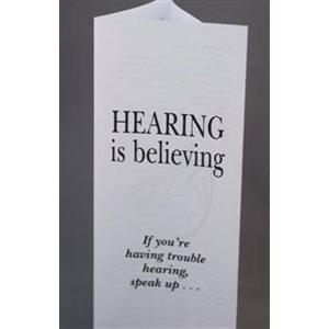 Hearing is Believing Earwax Removal Patient Brochure (each)