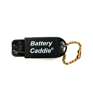 Battery Caddie with Chain (Black Color Caddie, White Letters)