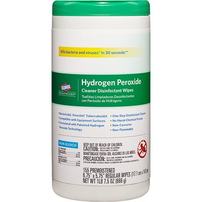 Clorox Healthcare Hydrogen Peroxide Disinfectant Wipes