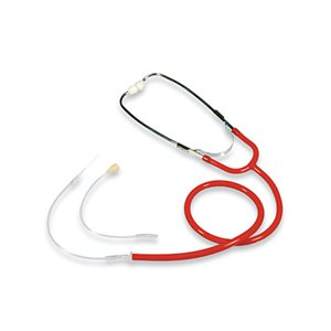 Heavy Duty Hearing Aid Stethoscope (red)