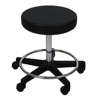 "Backless Stool with Threaded Stem (16"" seat diameter) - CHOOSE COLOR"