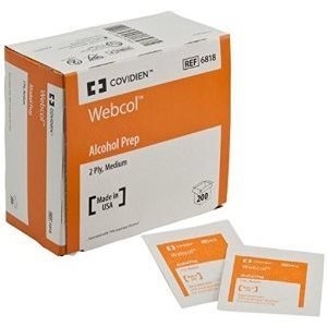 Webcol (Formerly Kendall) Alcohol Prep Pads (200 / box)