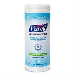 Purell Sanitizing Hand Wipes (100 / canister)
