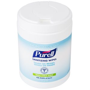 Purell Sanitizing Hand Wipes (270 / canister)