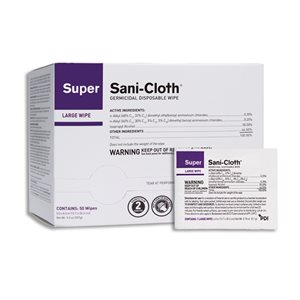 Super Sani-Cloth Disinfectant Wipe Singles (50 / box)