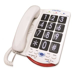 Dialogue JV35 Big Button Phone (black keys / white lettering)