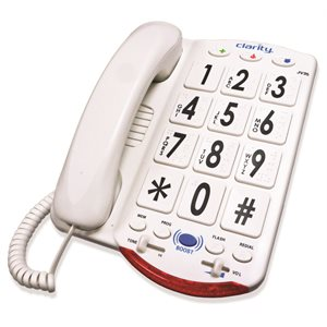 Clarity JV35 Big Button Phone (white keys / black lettering)