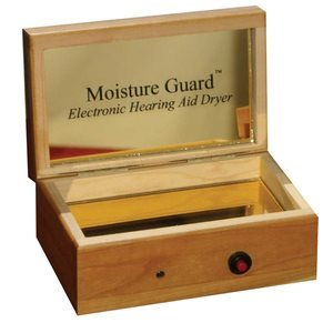 Moisture Guard Electronic Hearing Aid Dryer - Cherry Wood