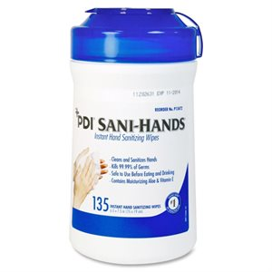 ** Sani-Hands Instant Hand Sanitizing Wipes (135 / canister)