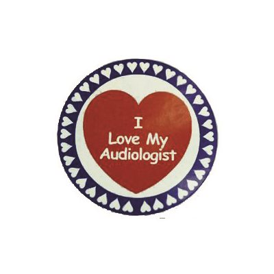 """I Love My Audiologist"" Stickers (100 / roll)"