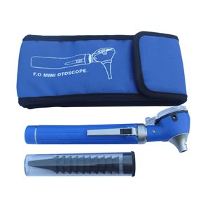 T.I.G. Fiber Optic Mini Otoscope with LED Bulb (Blue Color)