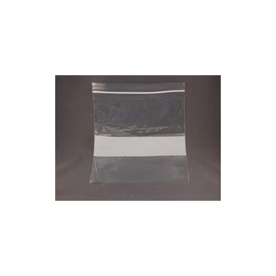 Plastic Zipper Bags, 8x10 with write-on block (100 / pk)