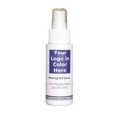 Custom Label Hearing Aid Spray, 2oz